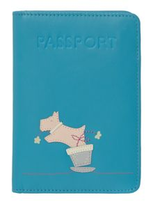 Flora radleus blue passport cover
