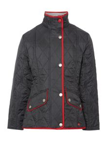 Beach funnel neck quilted jacket