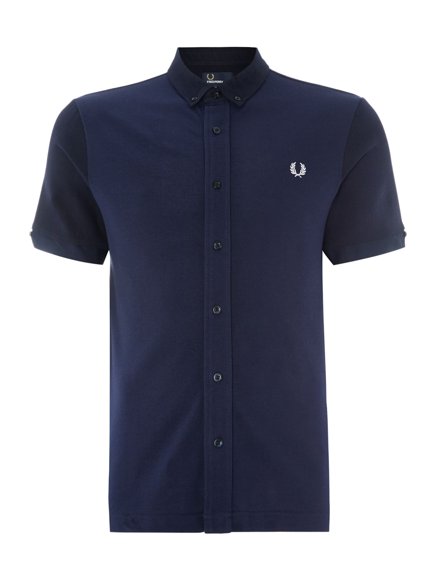 Mens Fred Perry Plain Regular Fit Polo Shirt Navy