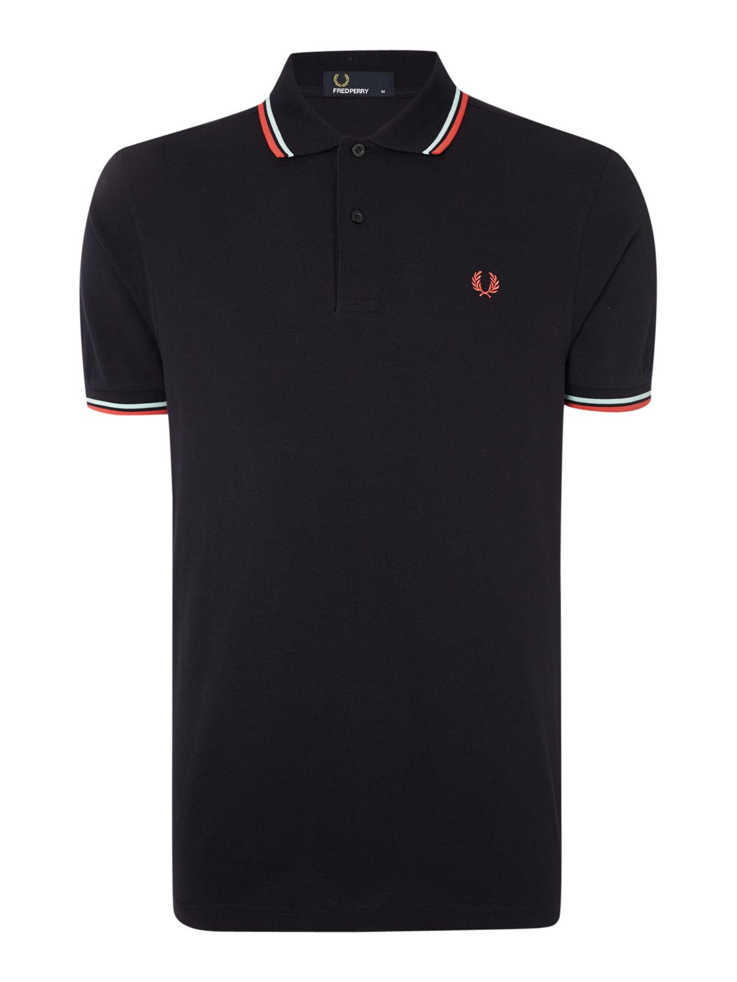 Mens Fred Perry Twin Tipped Regular Fit Polo Shirt Navy