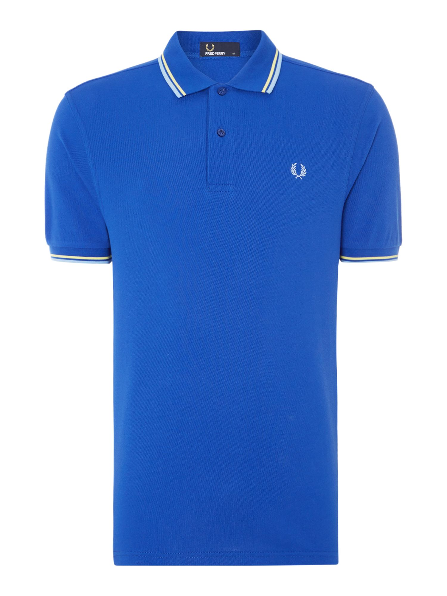 Mens Fred Perry Twin Tipped Regular Fit Polo Shirt Blue