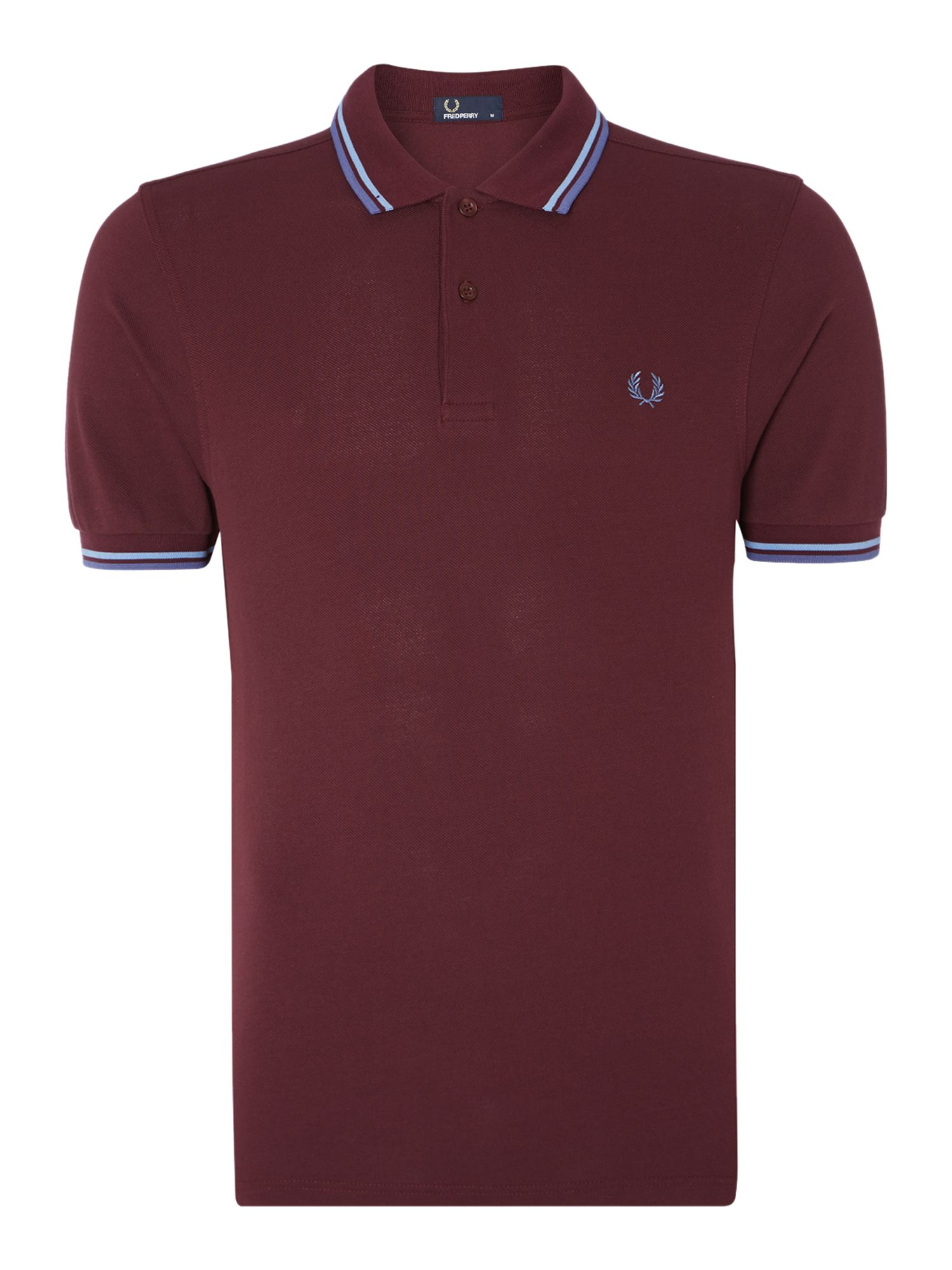 Mens Fred Perry Twin Tipped Regular Fit Polo Shirt Mahogany