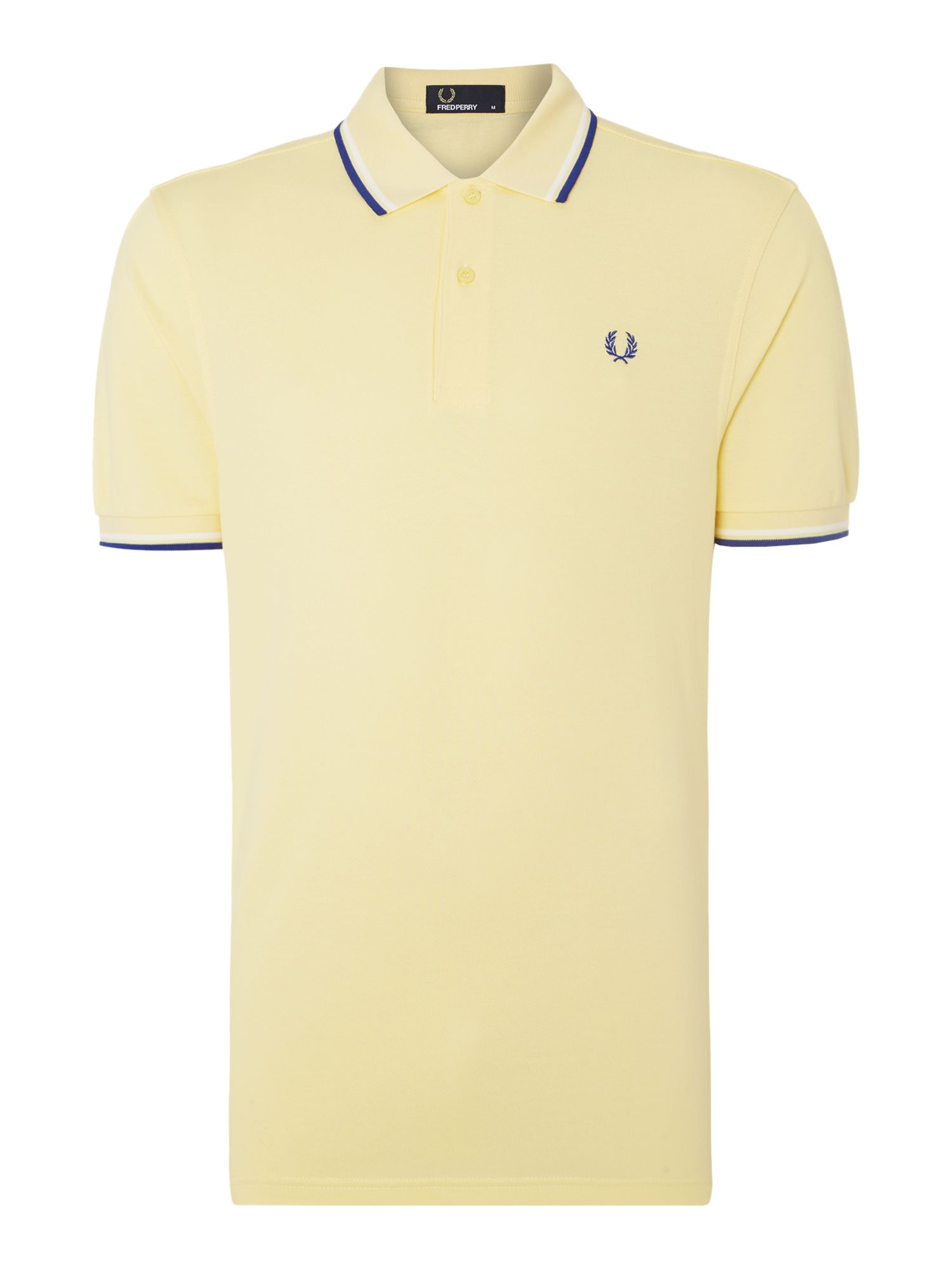 Mens Fred Perry Twin Tipped Regular Fit Polo Shirt Yellow