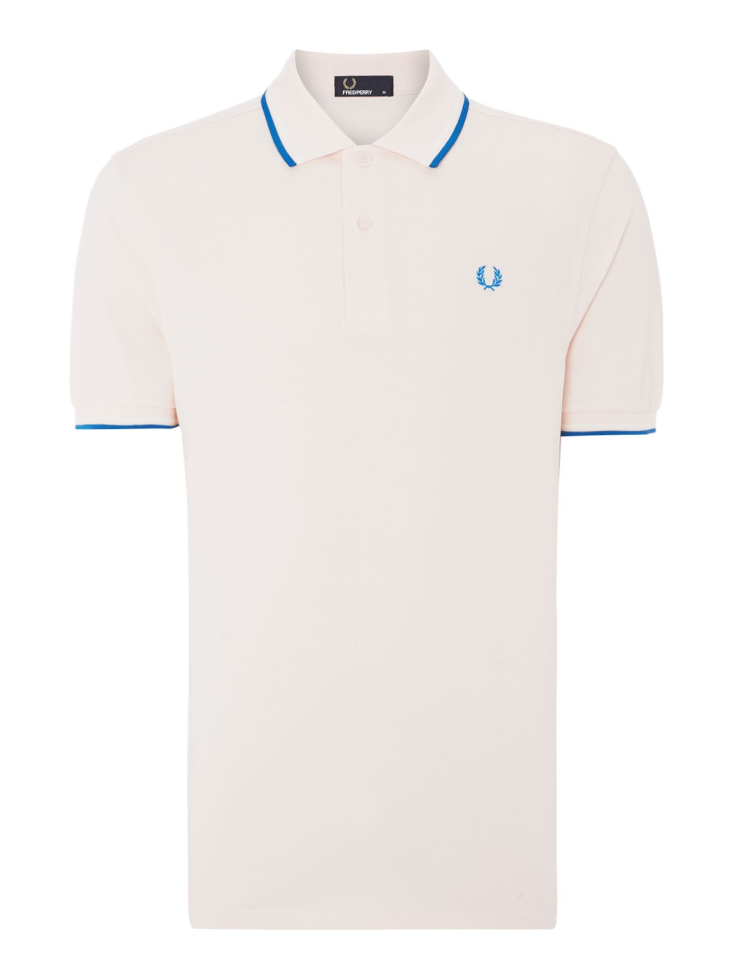 Mens Fred Perry Plain Polo Regular Fit Polo Shirt Light Pink