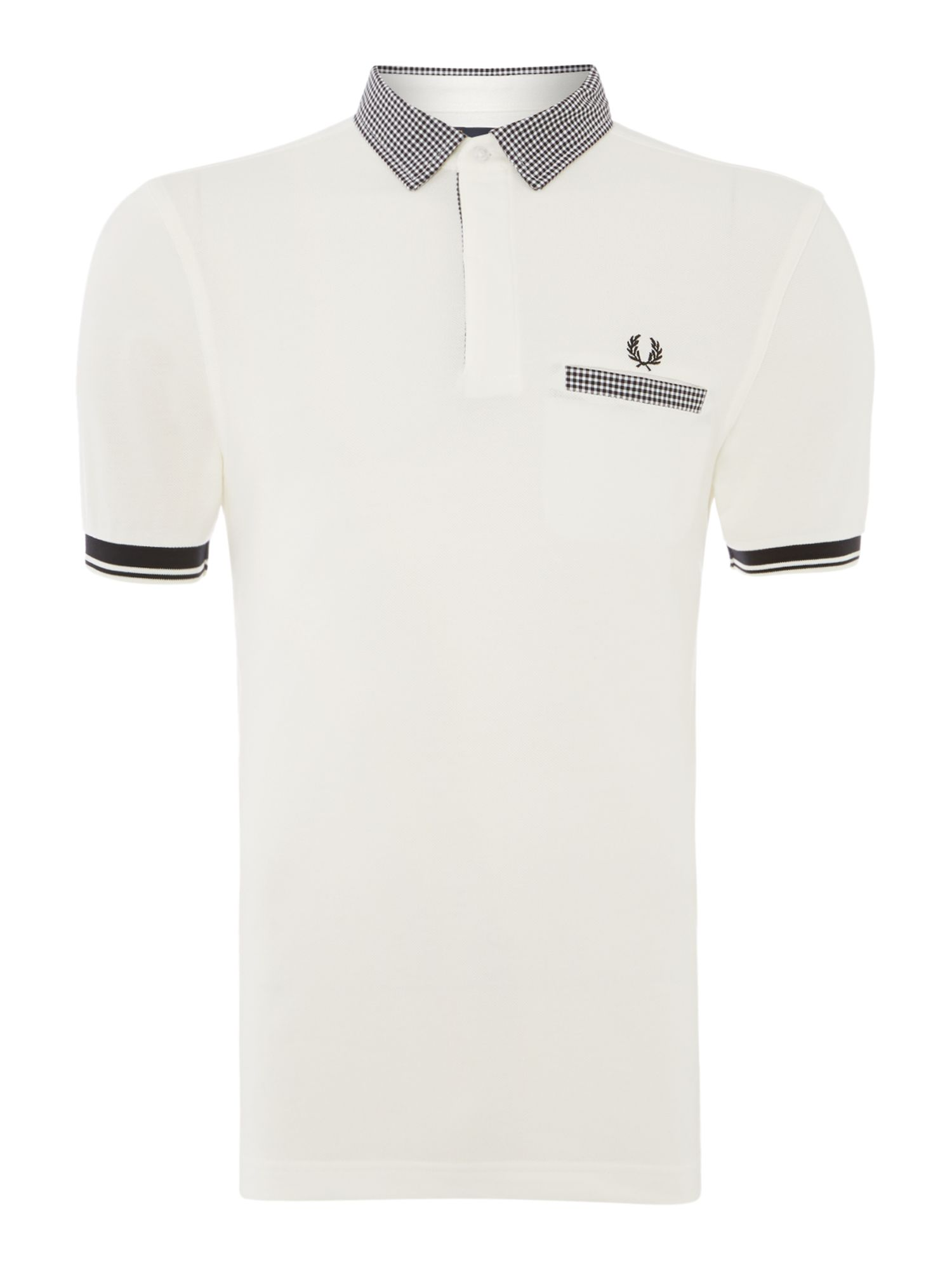 Mens Fred Perry Plain Polo Regular Fit Polo Shirt White