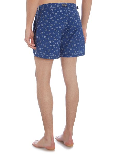 Polo Ralph Lauren Fixed Waistband Anchor Print Swim Shorts