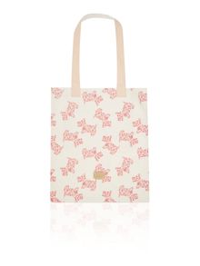 Rosemary gardens pink medium tote bag