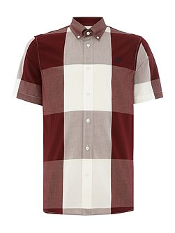 Men's Fred Perry Gingham Short Sleeve Collar Shirt
