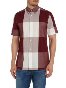Fred Perry Gingham Short Sleeve Collar Shirt Classic Fit