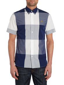 Gingham Short Sleeve Collar Shirt Classic Fit