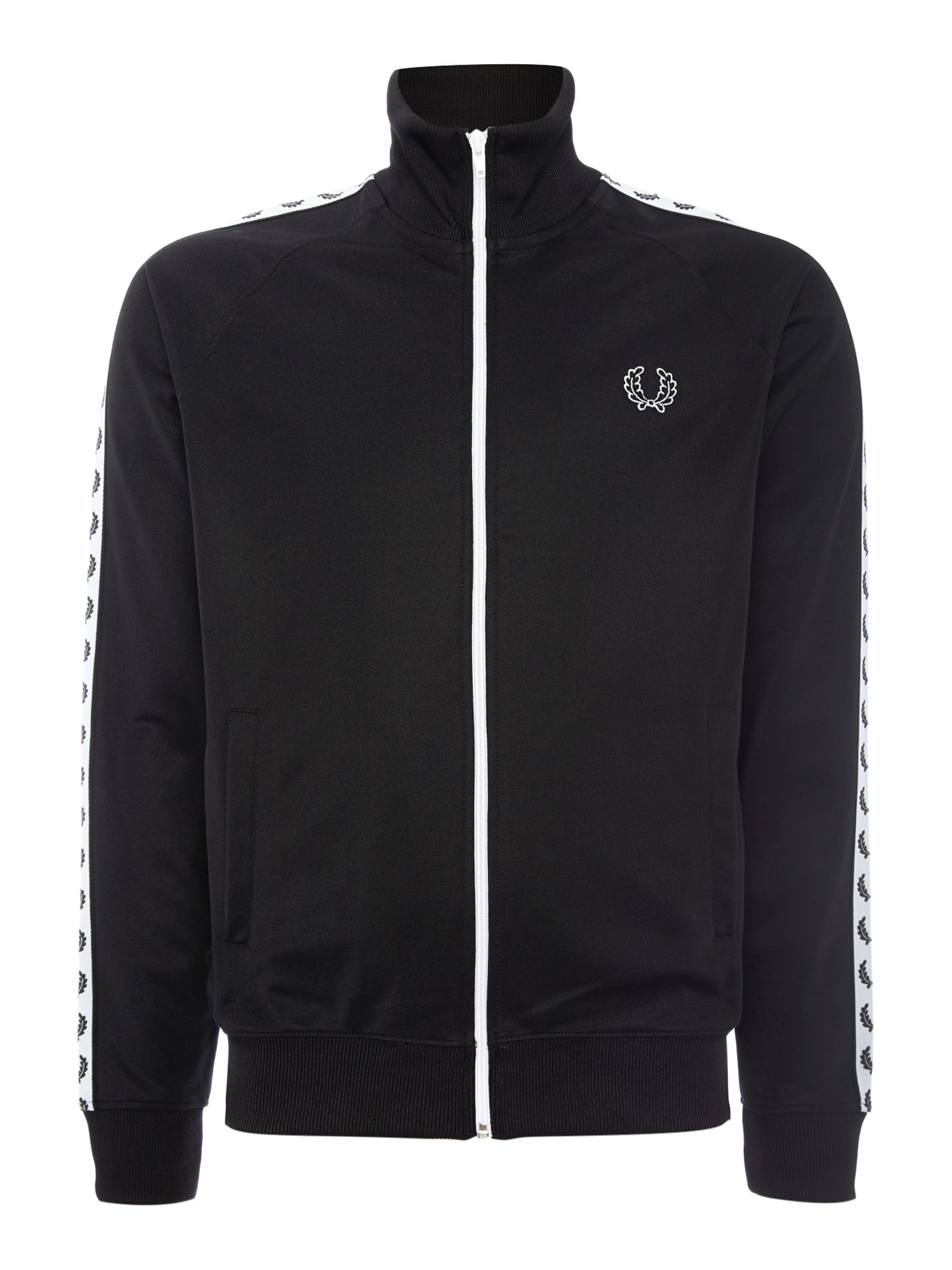 Men's Fred Perry Plain Funnel Neck Tracksuit, Black