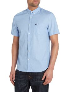 Plain Short Sleeve Collar Shirt Classic Fit