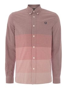Gingham Long Sleeve Collar Shirt Classic Fit