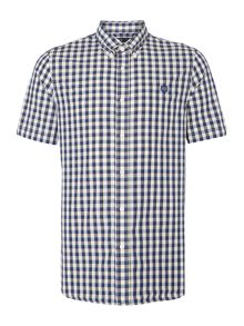 Fred Perry Pastel Gingham Classic Fit Short Sleeve Shirt