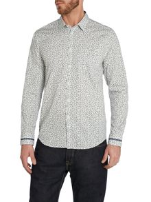 Merc Ditsy Floral Classic Fit Long Sleeve Shirt