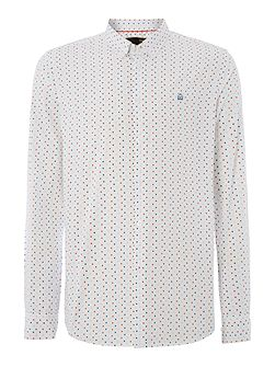 Men's Merc Polka Dot Classic Fit Long Sleeve