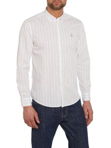 Merc Polka Dot Classic Fit Long Sleeve Crescent Shirt
