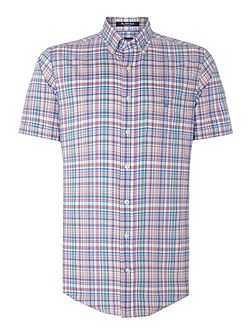 Men's Gant Multi Check Classic Fit Short Sleeve
