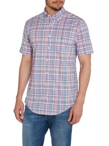 Multi Check Classic Fit Short Sleeve Shirt