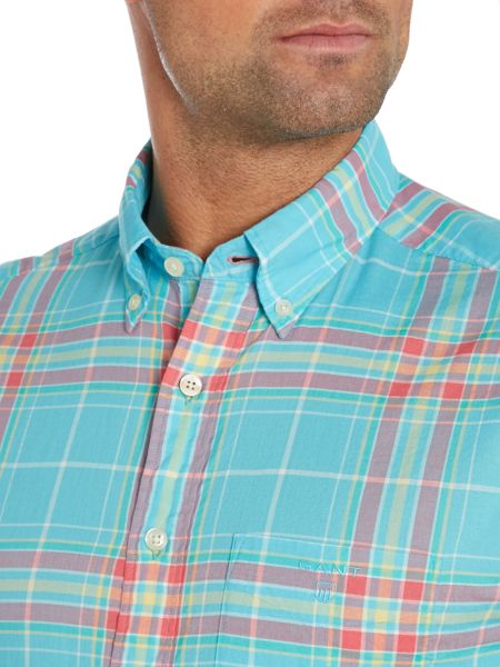 Gant Summer Check Classic Fit Short Sleeve Shirt