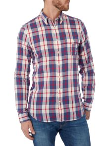 Gant Madras Check Long Sleeve Fitted Shirt