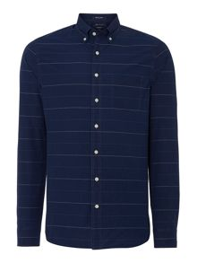 Gant Horizontal Striped Fitted Long Sleeve Shirt