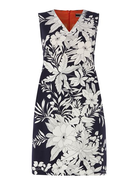 Sportmax Code Sleeveless tropical print dress