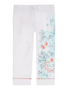 Baby girls fleece jogging bottoms
