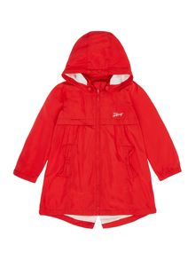 Girls hooded trench