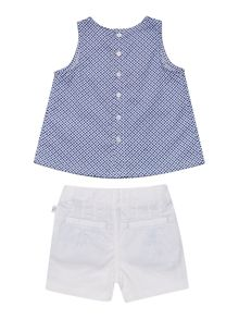 Baby girls set of blouse and short