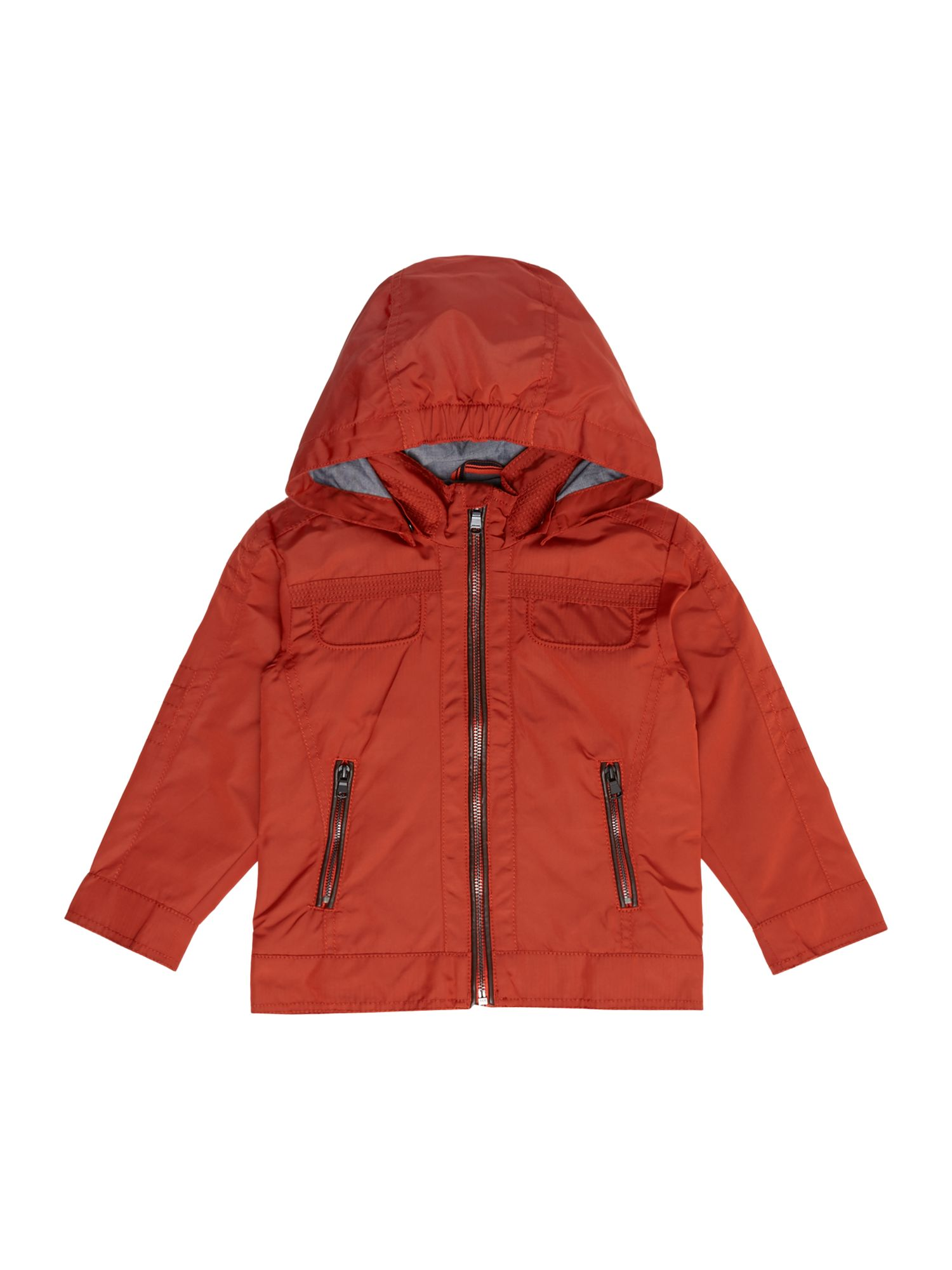 Hugo Boss Boys hooded jacket Orange