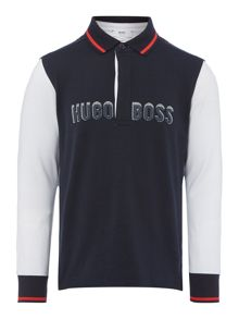 Boys long sleeved polo shirt