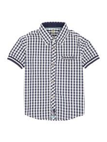 Boys Checked Short Sleeves Shirt