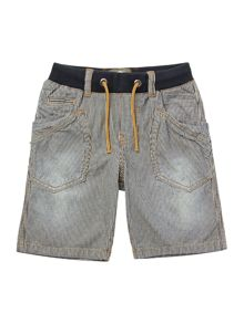 Boys striped denim bermuda shorts