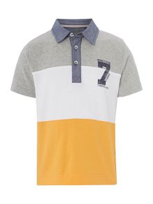 Boys organic short sleeves polo shirt