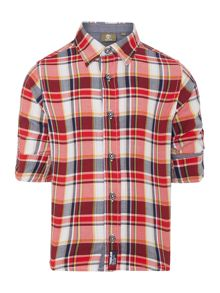 Boys checked long sleeved shirt