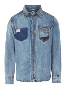 Boys long sleeves denim over shirt