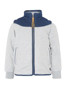 Boys fleece hooded down jacket