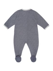 Baby boys striped baby grow