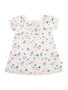 Baby girls short sleeved dress