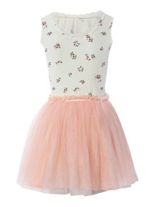 Girls party dress and wand