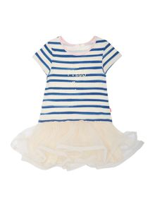 Baby girls bi-material dress