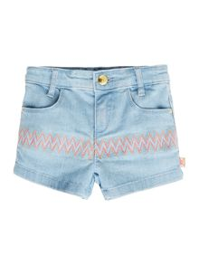 Baby girls denim shorts and belt