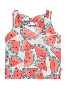 Baby girls watermelon print tank top