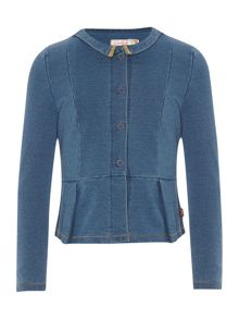 Girls denim cardigan