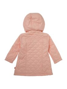 Baby Girls Hooded Quilted Coat