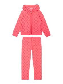 Girls terry jacquard tracksuit