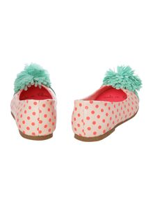 Baby girls pompom ballerinas