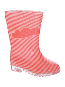 Baby girls striped rain boots