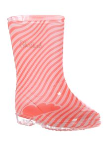 Girls Striped Rain Boots